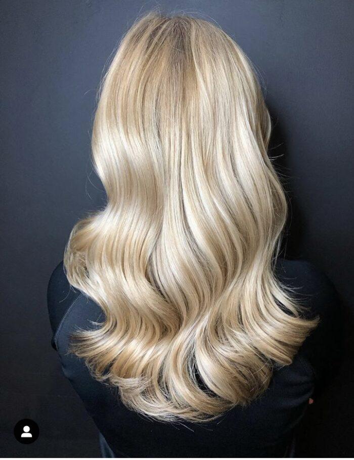 langt hår styling